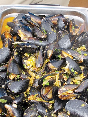 Photo of Blue Mussels ready to be served as lunch