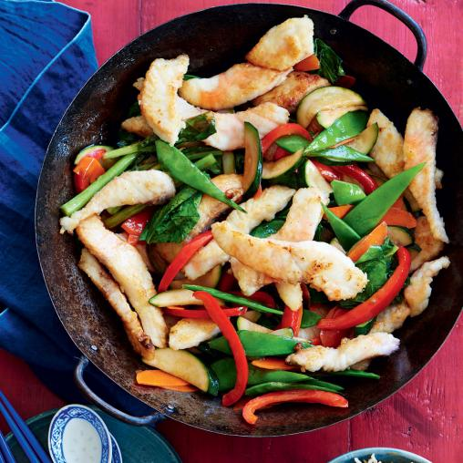 Plum and fish stir-fry
