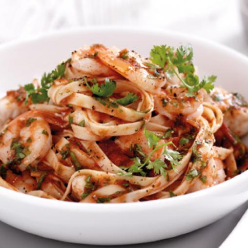Image of seafood pasta