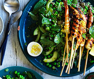 Summer-grilled-prawns-with-pea-tabbouleh