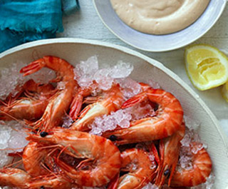 prawns with bloody mary mayo