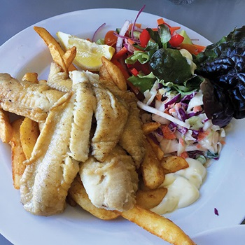 Photo of grilled sea bream, Pelican Rocks Cafe, New South Wales