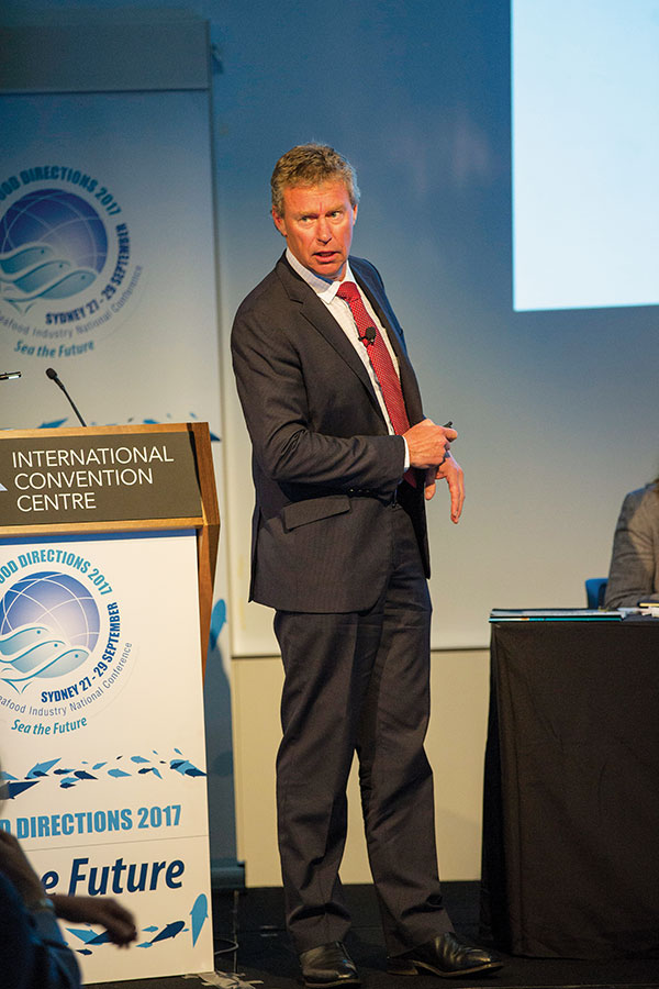 Austral Fisheries's Martin Exel presents at Seafood Directions 2017