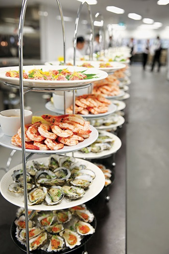 Photo of seafood at the awards night