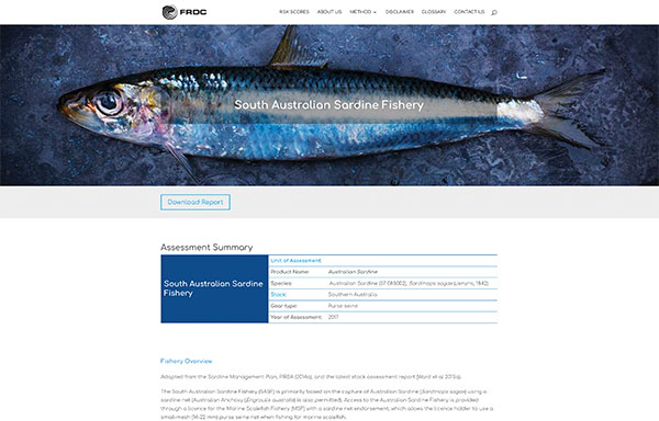 Screenshot of Which Fish website