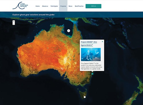 Screenshot of the Global Ghost Gear Initiative website
