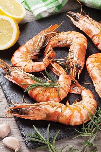 Photo of cooked prawns