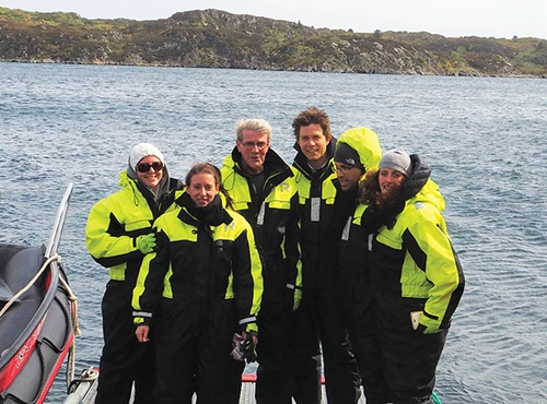 Photo of Magner Ottensen with tour group in Norway