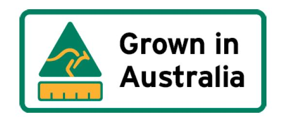 Grown in Australia logo