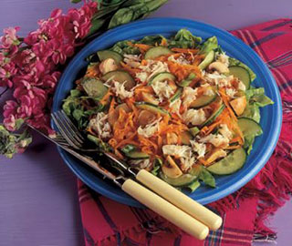 Crab Salad with Ginger Dressing salad recipe image