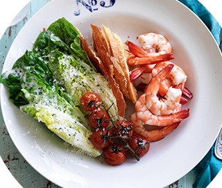prawn ceaser salad recipe image